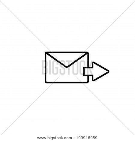 Send Mail, Letter With Arrow On White Background