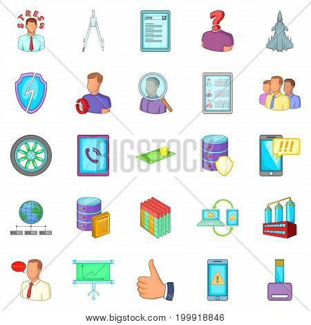Thriftiness icons set. Cartoon set of 25 thriftiness vector icons for web isolated on white background