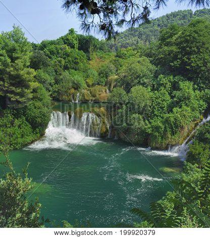 National Park KRKA Waterfall in Croatia