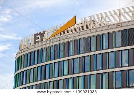 Stuttgart Germany - May 06 2017: accountancy firm Ernst & Young GmbH Wirtschaftspr