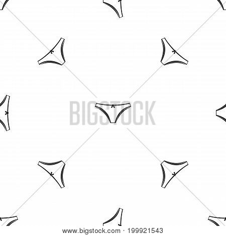 Panties pattern repeat seamless in black color for any design. Vector geometric illustration