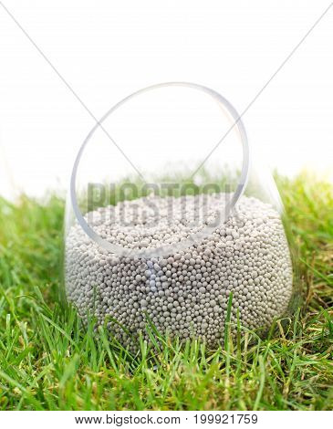 Mineral Fertilizer On Grass