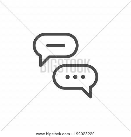 Discussion line icon isolated on white. Vector illustration
