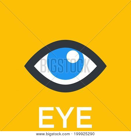 eye icon, sign, eps 10 file, easy to edit