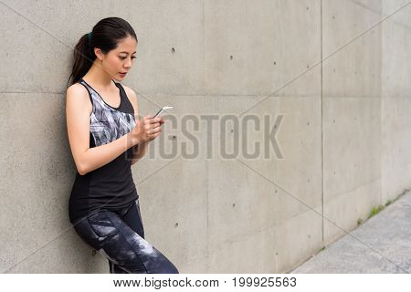 Young Girl Complete Tired Running Training