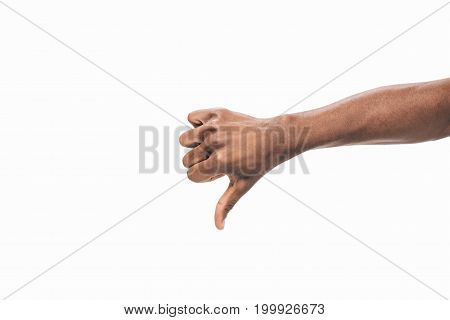 Hand Showing Thumb Down