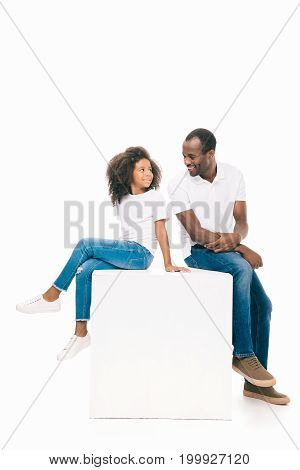 Happy African American Father And Daughter