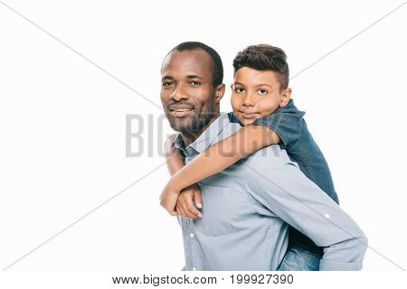 Happy African American Father And Son