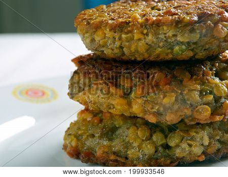 Ambode- Benga Lentil Vegetable Fritters close up meal