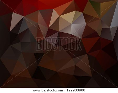 vector abstract irregular polygon background with a triangle pattern in dark brown color
