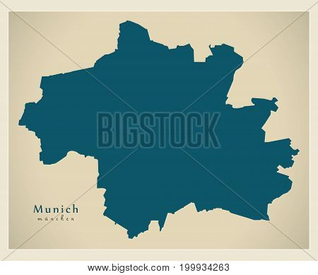 Modern City Map - Munich City Of Germany De