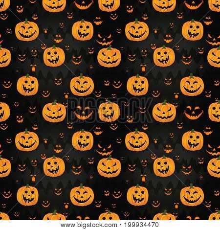 Abstract Seamless Pattern For Girls,boys, Kids, Halloween, Clothes. Creative Vector Background With