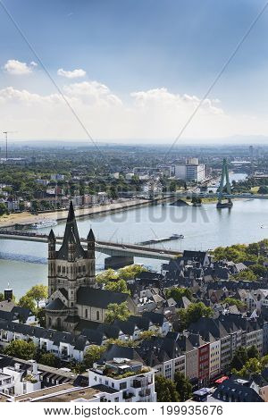 Cologne Great St. Martin Church, Germany, Editorial