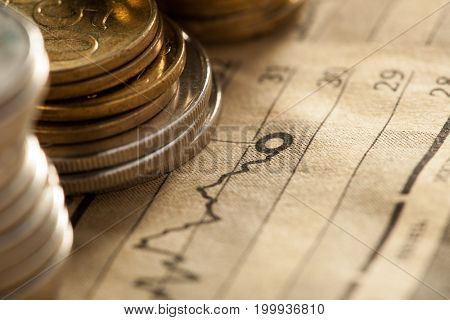 coin and chart a business concept