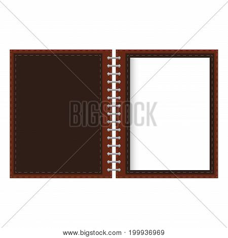 Brown and White Note Paper Design Isolated On White Background.