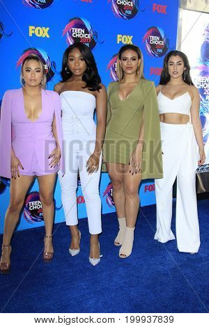 LOS ANGELES - AUG 13:  Fifth Harmony at the Teen Choice Awards 2017 at the Galen Center on August 13, 2017 in Los Angeles, CA