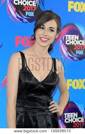 LOS ANGELES - AUG 13:  Colleen Ballinger at the Teen Choice Awards 2017 at the Galen Center on August 13, 2017 in Los Angeles, CA