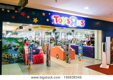 KUALA LUMPUR Malaysia June 25 2017: Toys R Us an American toy and juvenile products retailer with 34 stores in Malaysia. Picture here is the store at Mid Valley Mega Mall, Kuala Lumpur