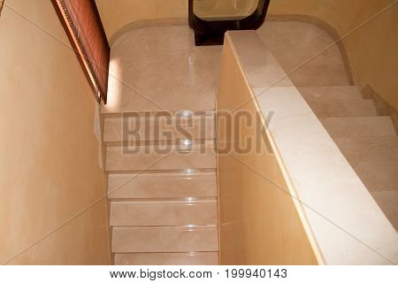 A marble staircase in a bourgeois house