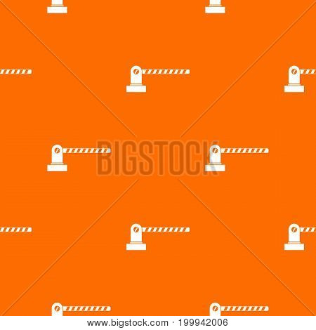 Parking barrier pattern repeat seamless in orange color for any design. Vector geometric illustration