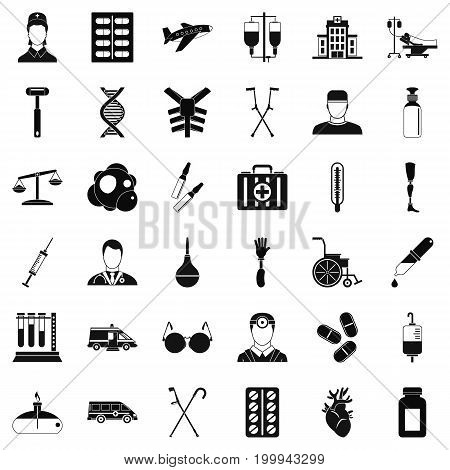 First kid icons set. Simple style of 36 first kid vector icons for web isolated on white background