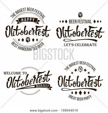Oktoberfest Beer Festival Vector. Celebration Retro Typography Design. Print Template Good For Poster Or Flyer. Isolated On White