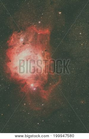 Lagoon Nebula Located In The Constellation Sagittarius.