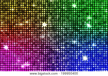 Multicolored Reflections And Led Star Flashes Illustration