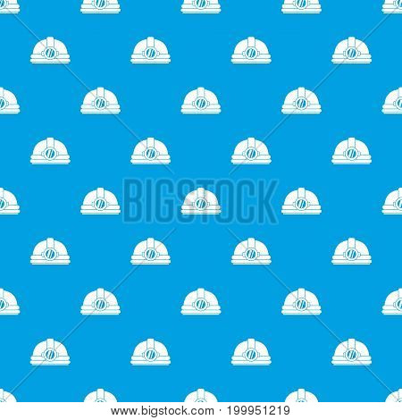 Helmet with light pattern repeat seamless in blue color for any design. Vector geometric illustration
