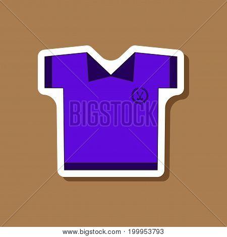 paper sticker on stylish background Golf shirt