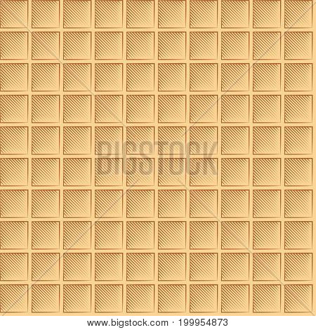 Seamless Waffle Graphic Pattern - Multicolor Large Waffles
