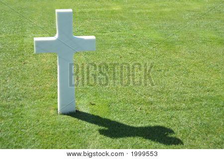 Normandy American Cemetery - Single Cross