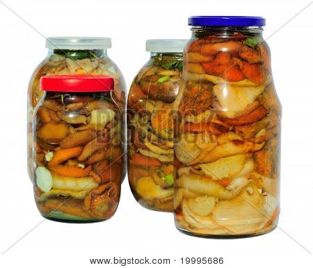 Assorted Pickled Mushrooms