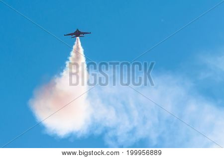 Fighter Military Combat Flies In The Sky