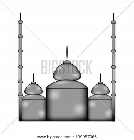Mosque sign icon on white background. Vector illustration.