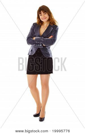 Young Woman In Business Suit Smiling