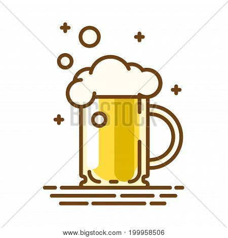 Beer glass. Trendy flat linear icon. Vector line symbol. Can be used for advertising and promotion, design flyer or placard on oktoberfest.