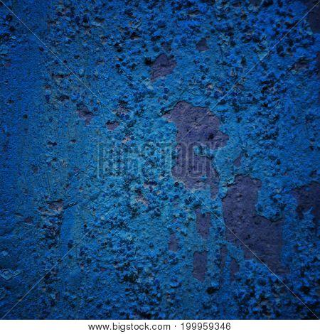 Blue wall background texture vintage grunge background texture