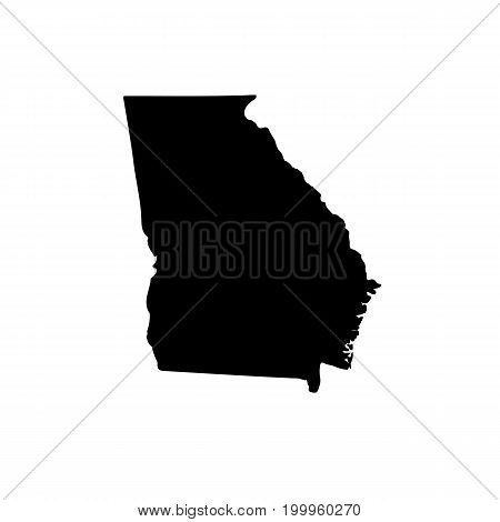 Map of the U.S. state of Georgia on a white background