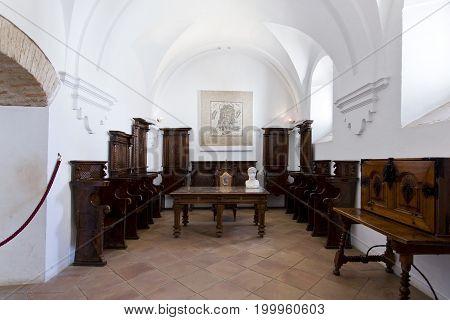 Interior Of Alcazar De Los Reyes Cristianos In Cordoba