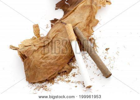 Tobacco,cigarillo , Addiction Concept