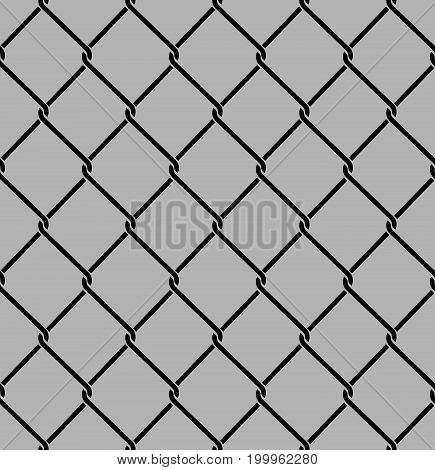 Rabitz Seamless Pattern. Mesh Netting Ornament. Mesh Fence Background