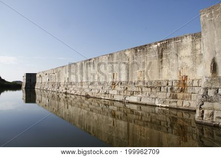 Fort Zachary Taylor Moat at the National Historic State Park, Key West, Florida, USA