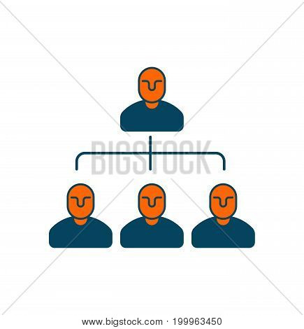Company Structure Icon. Personnel Management. Boss And Subordinates. Management Sign. Business Conce