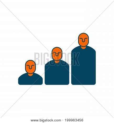 Career Ladder Icon. Steps From Managers. Management Sign. Business Concept Symbol