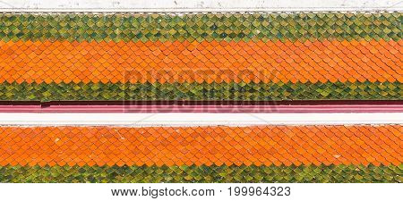 Abstract background close up thai buddhist temple roof