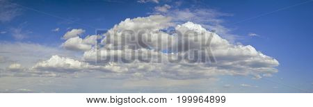 Panoramic Overcast Spring Cloudscape Background