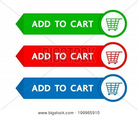 Add to cart button vector business design.