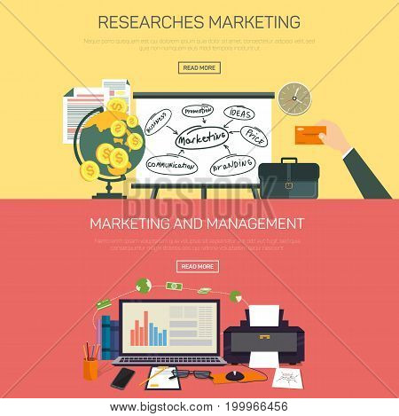Online marketing research and management. Web or internet information or analytic, seo for smm marketing or social media digital analysis or optimization with carts or graph. Office and report theme