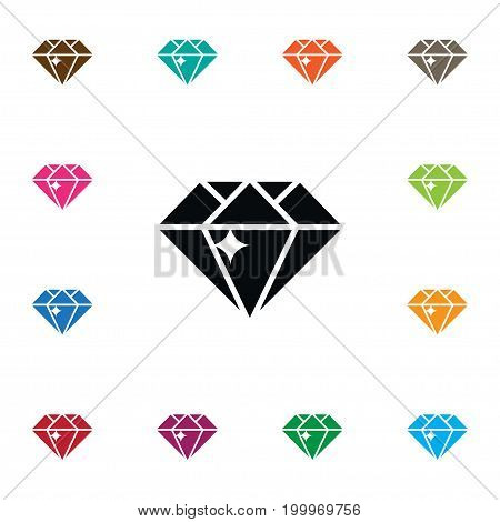 Gemstone Vector Element Can Be Used For Treasure, Diamond, Gemstone Design Concept.  Isolated Treasure Icon.